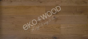 OAK lightly smoked, 1-strip Rustic, Transparent, 4sides beveled/brushed 13,5x185x1800mm